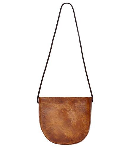 ZLYC - kleine Umhängetasche Damen , Braun (braun), Einheitsgröße