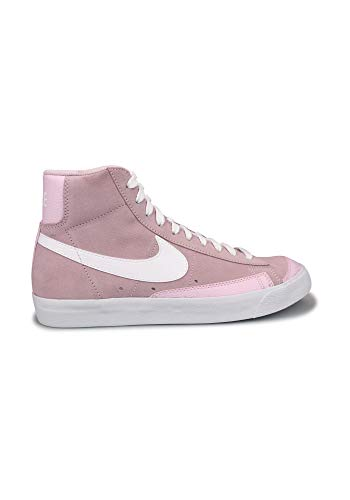 Nike Blazer Mid Vintage '77, Zapatillas de bsquetbol Mujer, Pink Foam Pink Foam White, 40 EU