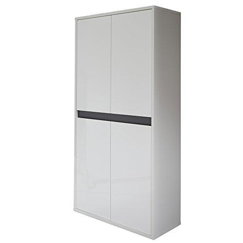 trendteam smart living Badmidischrank, Holz, Weiß, 31 x 67 x 138 cm