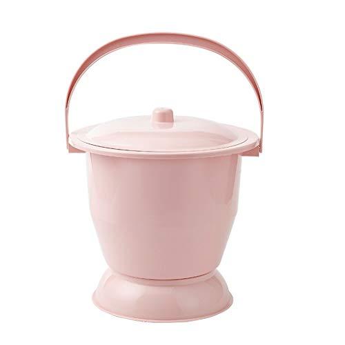 HapHomeSHOP Plastic urinoir, potje voor zwangere vrouwen, urinopannen nachtpot, nachtpot met deksel, urinale spucknap, verhogende antislip draagbare toiletpotjes voor nachtpot met dekseltoilet U