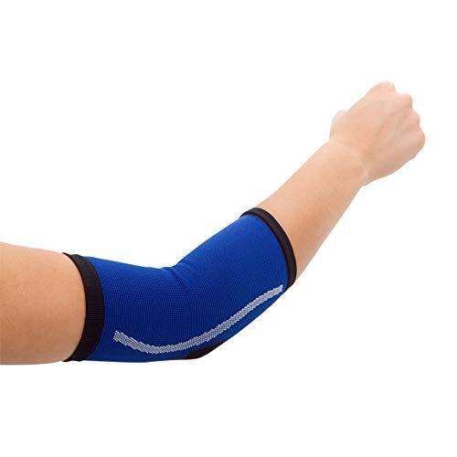 STADIUM - Codera, Azul, S, para alivio del dolor de musculos del codo, epicondilitis, tendinitis artritis, codo tenista y codo golfista, vendaje para soporte deportivo, Unisex para Hombre y Mujer