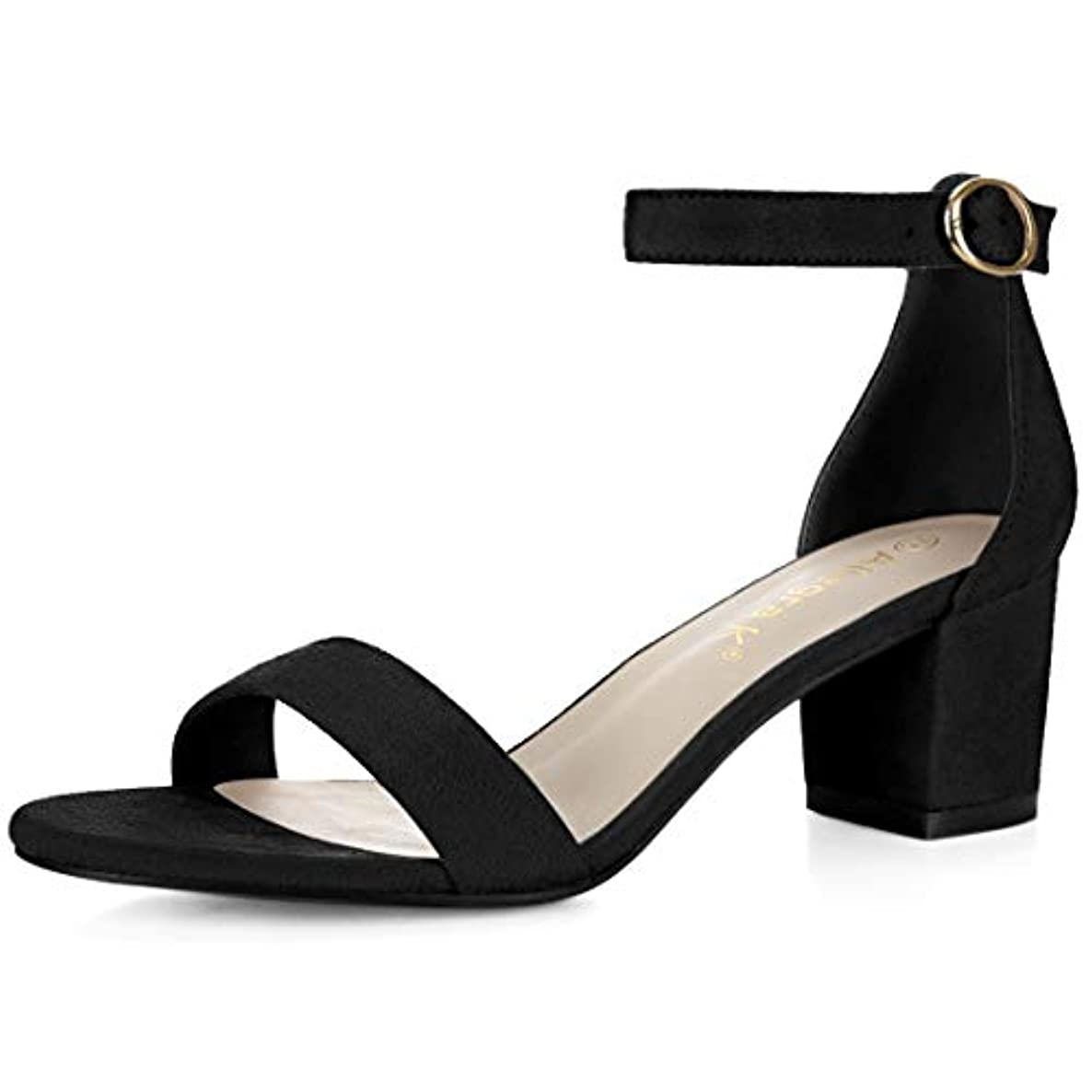 Allegra K Women's Open Toe Block Heel Ankle Strap Sandals