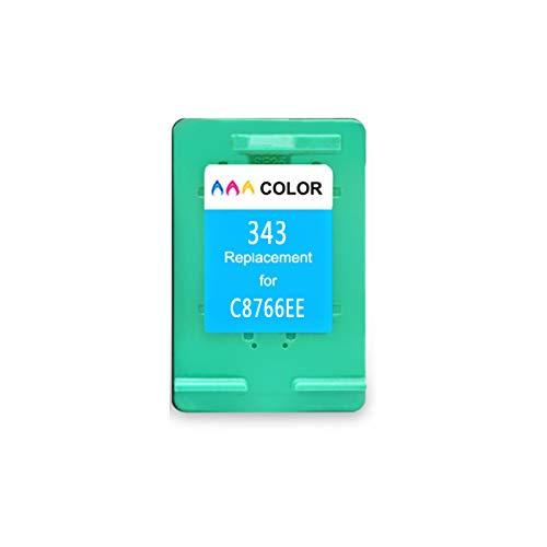 DYYPPWW Compatible 337XL 343XL Cartucho de Tinta, Alto Volumen de Impresión, Reemplazo,para HP Photosmart 2575 8050 C4180 Impresora,Color,B