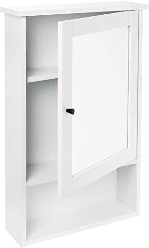 Livarno living® Spiegelschrank Wandschrank, 1 Rahmentür mit Spiegel, 3 höhenverstellbare Einlegeböden