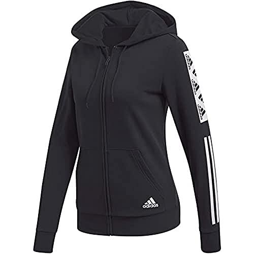 adidas Damen Bold Block Full-Zip Trainingsjacke, Black, S