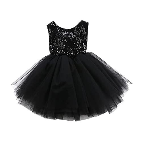 BIVJX Vestidos de niña Princesa Ropa para niños niñas de lujo vestido de novia sin mangas lentejuelas fiesta cumpleaños bautismo niñas vestido de verano cómodo y agradable al tacto
