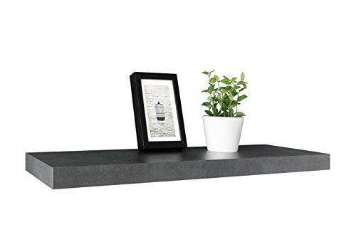 Eternity-Möbel Wandboard Wandregal Steckboard - Ruga 1-2er Set x 90 cm lang Betonoptik Dunkel