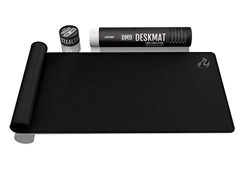 NITRO CONCEPTS DM9 Deskmat Desk Pad - Mouse Pad - Tappetino per Mouse per scrivania 900x400mm - Nero