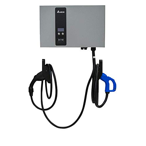 Delta EV Wallbox DC Fast Charger 25kW Commercial Charging Station - Single CCS Connector (Single-Phase, 240v)