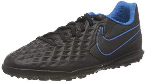Nike Legend 8 Club TF, Scarpe da Calcio Unisex-Adulto, Black/Black-lt Photo Blue-Cyber, 45.5 EU