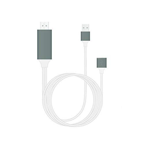 SUNERLORY Cable HDMI Accesorios and Play Cable Pantalla sincronización Alta Velocidad 1080P Tabletas Smart HD Teléfono a TV Línea Adaptador AV para iPhone 6 7 8 X(Blanco)