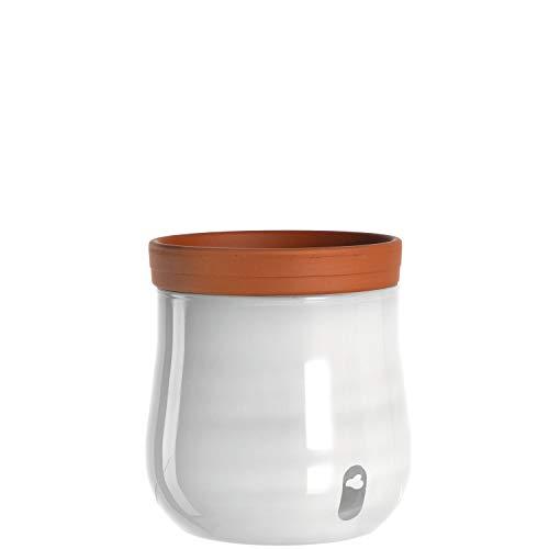 Leonardo Serra 057776 Pot de Fleurs avec système d'irrigation Automatique Blanc Hauteur 241 mm