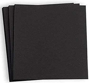 Hamilco - Papel de cartulina de color negro para scrapbook, 12 x 12 pulgadas, pesado, 80 libras, para caligrafía o pizarra para impresora Paquete de 50