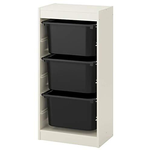 Trofast IKEA Regal, Aufbewahrung mit Boxen 46x30x94 cm Set NEU (Regal weiß/Boxen schwarz)