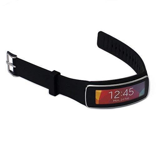Elespoto Reemplazo Banda Accesorio Muñequera para Samsung Gear Fit R350 Smart Watch Reloj Inteligente (Black)