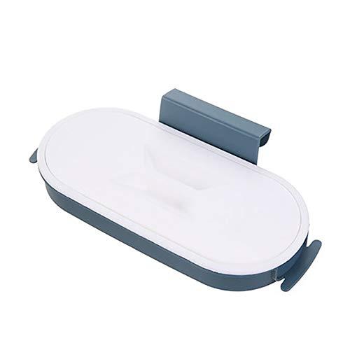 Y-H - Soporte para bolsas de plástico para colgar en la pared, color gris