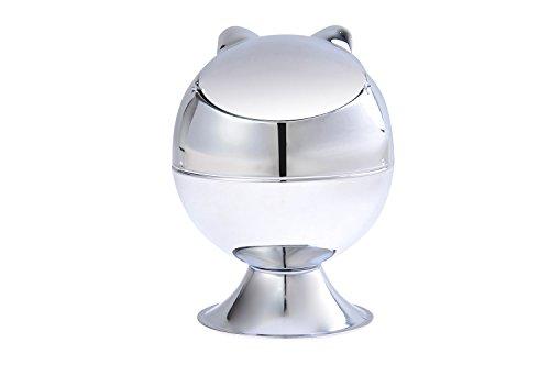 The Khan Outdoor & Lifestyle Company Quantum Abacus Windaschenbecher aus Zinklegierung, in Form Einer Katze, poliertes Metall, Mod. 946A (DE)