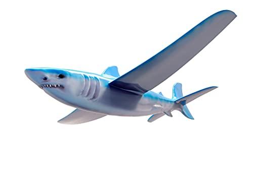 Diggin Real Flyers Shark Glider Plane. Flying Styro-Foam Airplane for...
