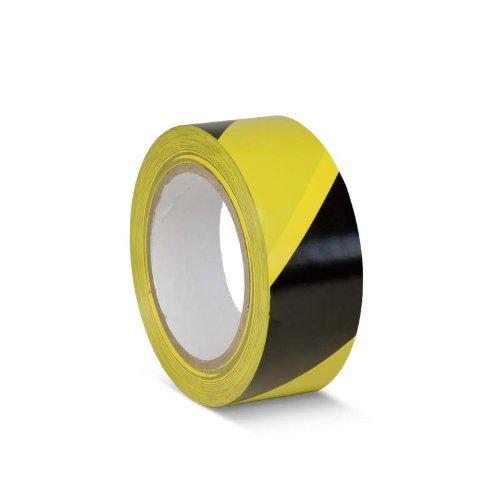 Bodenmarkierungsband schwarz gelb, 50 mm breit, 33 m lang