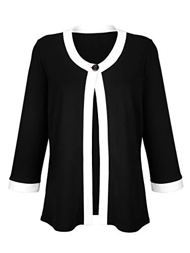 Alba Moda Shirt-Jacke mit Blenden Schwarz
