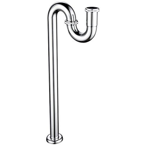CIENCIA Design Siphon Waschbecken Siphon Messing Waschbecken Chrom Röhrensiphon 1 1/4, WT04