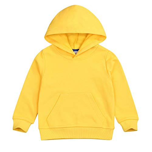 Baby Sweatshirt 1-7 Years Old,Toddler Boy Girl Kids Autumn Winter Long Sleeve Solid Hooded Casual Tops Pullover (Yellow, 2-3 years)