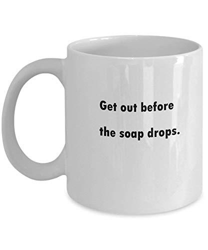 Tazas de café Salga antes de que caigan las gotas de jabón Regalos para el día de la madre Tazas divertidas y novedosas de regalo de 11 onzas