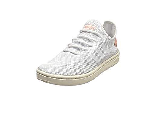 adidas Damen Court Adapt Sneaker, Footwear White/Footwear White/Dust Pink, 40 EU