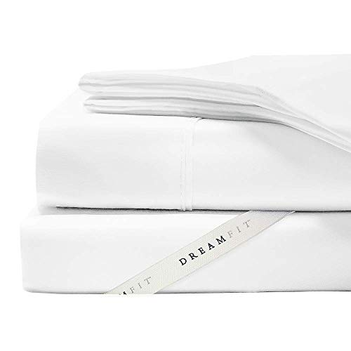 Dreamfit Sheets Degree 4 Egyptian Cotton Designed for Adjustabled Beds, Made in The USA (Split King, Snowflake)