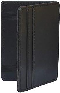 محفظة جلد أنيقة، صغيرة وعملية (أسود)