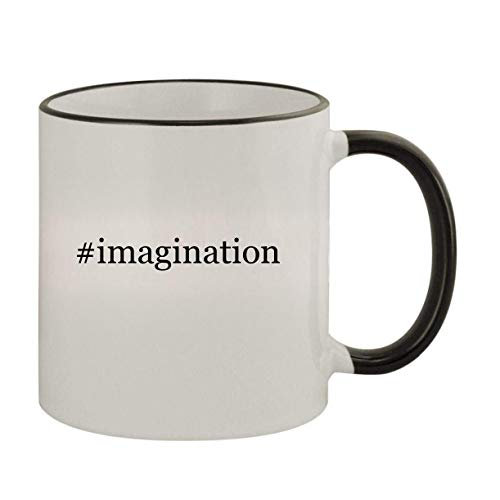 #imagination - 11oz Ceramic Colored Rim & Handle Coffee Mug, Black