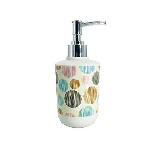 Soap Dispenser 320ml Impresión de plástico Dispensador de jabón Accesorios de baño Bomba Botellas de desinfectante de manos recargables Decoración del hogar Dispensador Jabon Baño ( Color : 3 )