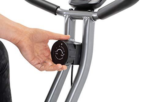 CADENCE Unisex SMARTFIT 100 Foldable Bike, Black and Silver