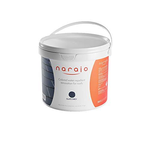 NARAJO® – Pintura Hidrófuga de Colores – Gris Antracita – Impermeabilizante listo para usar para tejados – Aplicación sencilla – Producto en fase acuosa de calidad profesional – 5 kg