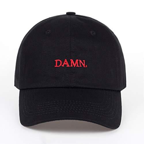 A hut Nuevo Vino Rojo Kendrick Lamar Maldito Gorra Bordado Damn. papá no Estructurado Hueso Hueso Mujeres Hombres la Gorra de béisbol del Rapero