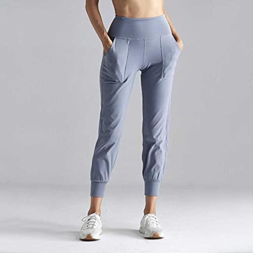 YWSZJ Leggings Deportes Fitness Ejercicio Ropa Pantalones Yoga Pantalones Cinturón Alto Pocket Sportswear Estiramiento Gimnasio Leggings Empuje (Color : B, Size : Large)