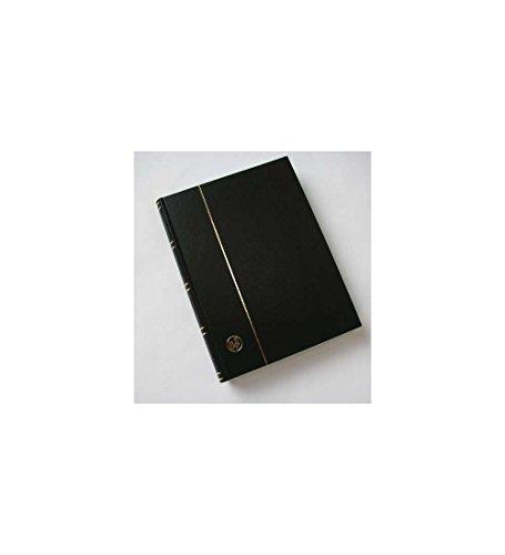 Goldhahn 60 weiße Seiten schwarz Einsteckbuch Einsteckalbum Briefmarkenalbum wattierter Einband