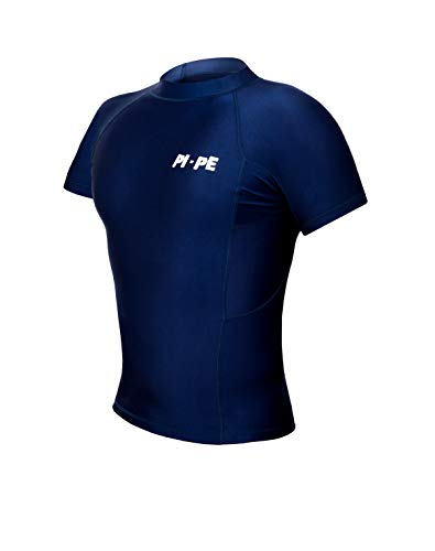 PI-PE Rash Guard Herren S/S Short Sleeve Blue XL