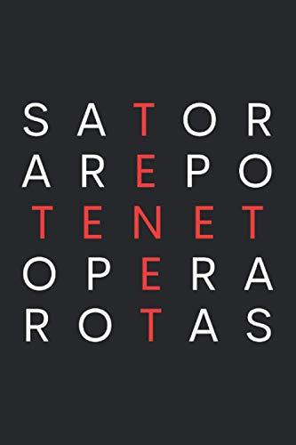 Sator Zitat I SATOR TENET AREPO Quadrat: Film und Kunst Zeichen Notizbuch: Liniertes Papier mit 120 Seiten im Format 15 x 22, 86 cm