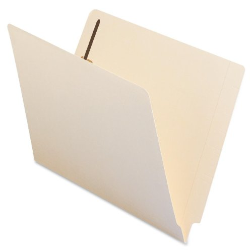 Smead Heavyweight End Tab Fastener File Folder, Shelf-Master Reinforced Straight-Cut Tab, 2 Fasteners, Letter Size, Manila, 50 per Box (34215)