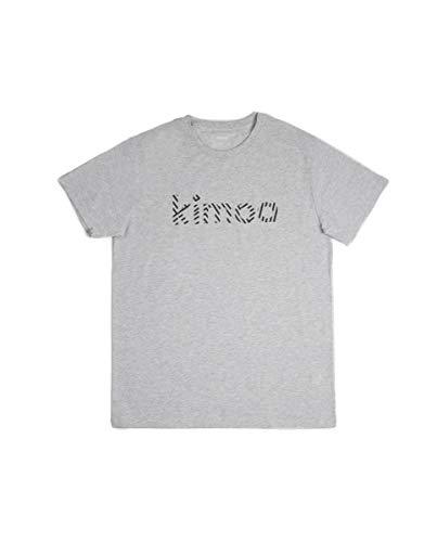 Kimoa Camiseta Streaky Eco Gris, Unisex Adulto, XL