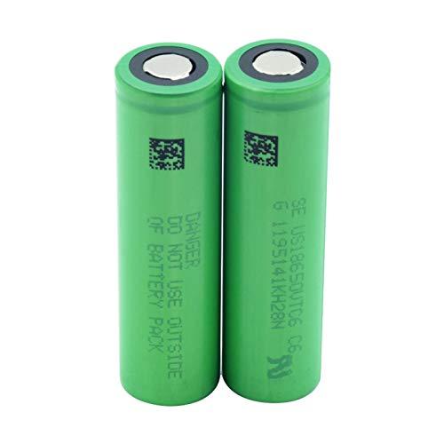 WSXYD BateríA De Iones De Litio De Litio Verde Us18650vtc6 3000mah 18650, Reemplazo De BateríA del Faro del Banco De EnergíA 2pieces