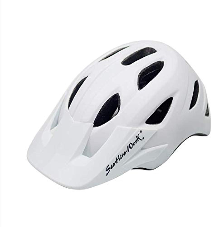 Professional Bicycle Helmet, Cycling Helmet, Ventilation, Low Wind Resistance, Adjustable Head, Weekly Size, Sports Bicycle Helmet, Male Female Mountain Bicycle Helmet,White