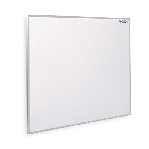Allpax Infrarot Elektroheizung 450 Watt für die Steckdose - elektrischer Flachheizkörper - Wandmontage, weiß, 70x60 cm