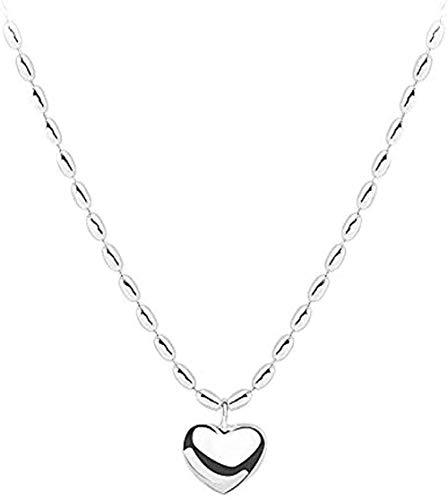 ZGYFJCH Co.,ltd Collar de Moda con Forma de corazón, Collar con Colgante de Cadena de clavícula Femenina, Regalo para niñas y niños