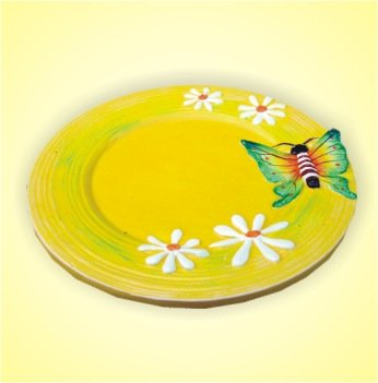 Keramikteller gelb 18 cm 1 Stück