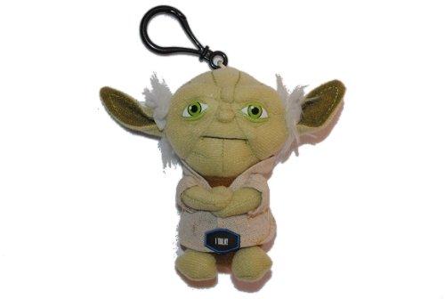 alles-meine.de GmbH Schlüsselanhänger Star Wars - Yoda mit Sound / Stimme grün Plüschtier The Clone
