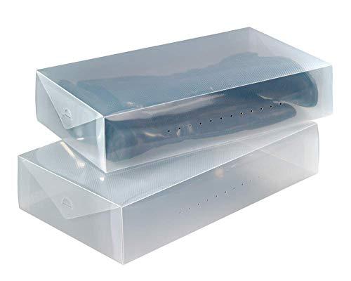 XZDXR Schuhaufbewahrungsbox, 6 X Robuste, Stapelbare, Transparente Stiefelschuhboxen Für Kniehohe Stiefel/Stiefeletten
