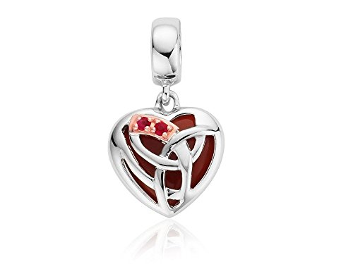 Clogau Silver And 9ct Rose Gold Eternal Love Heart Bead Charm Bracelet Jewelry