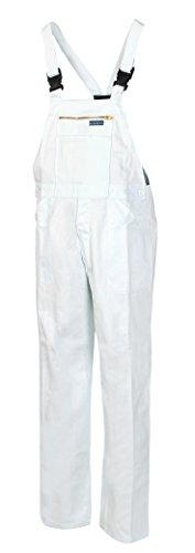 HighMax Latzhose, Arbeitshose, Baumwolle 290G Weiß, Maler, A60 (48)